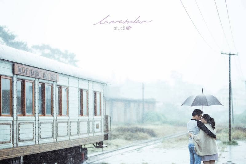 Chụp ảnh cưới Đà Lạt vào mùa mưa