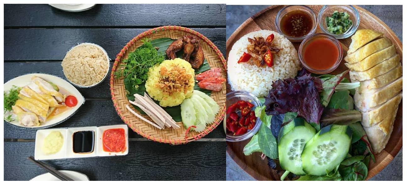Cơm gà Singapo – cơm gà Hải Nam ở Đà Lạt