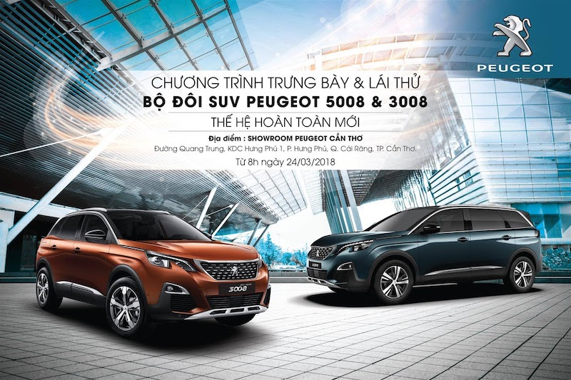 Peugeot thường xuyên tổ chức các chương trình lái thử xe
